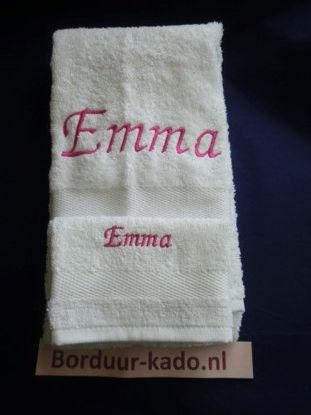 Afbeeldingen van Handdoeken set 6 met naam